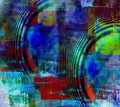 Atom Mixed Media - Rings And Echo by Fania Simon