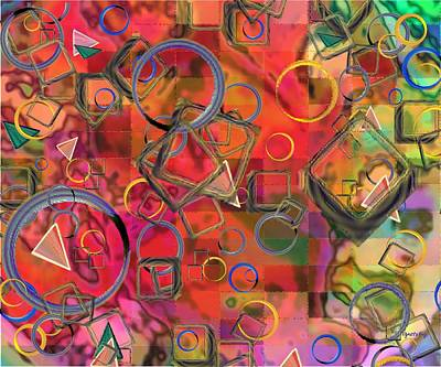 Layered Digital Painting - Rings And Things by Paintings by Gretzky