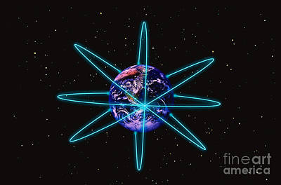 Rings Around The Earth Print by Stocktrek Images