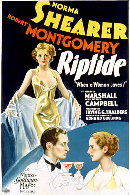 Postv Photograph - Riptide, Robert Montgomery, Norma by Everett