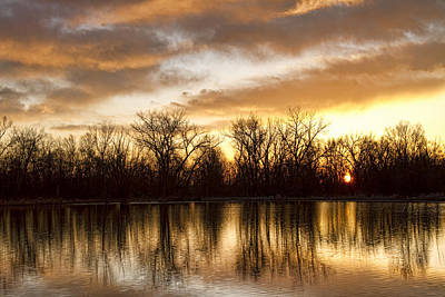 Rising Sun At Crane Hollow Print by James BO  Insogna