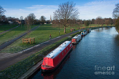 Winter Landscape Photograph - River Cam by Andrew  Michael