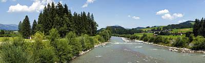 Y120831 Photograph - River Iller Near Fischen, Allgaeu, Bavaria by Hans-Peter Merten