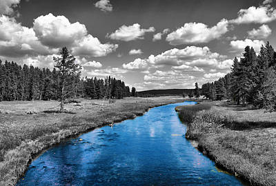 Violet Photograph - River In A Landscape 1 by Sumit Mehndiratta
