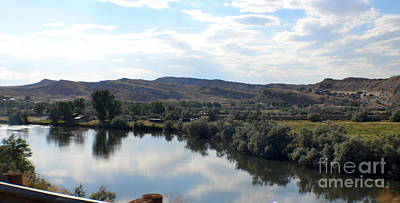 Thermopolis Photograph - River Mirror by Roxann Whited