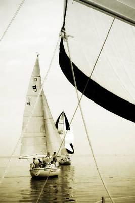 Sailboat Photograph - River Sailors -2 by Alan Hausenflock