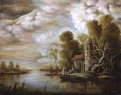 Tablou Painting - River Scene 4 by Dan Scurtu