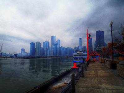 Digital Art - River Walk by Barry R Jones Jr