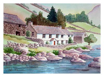 Cumberland River Painting - Riverside Farm by Rod Jones