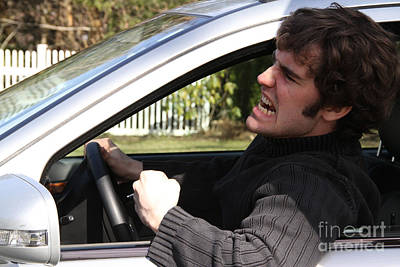 Raging Photograph - Road Rage by Photo Researchers