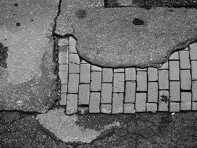 Road Textures Print by Mike McGlothlen