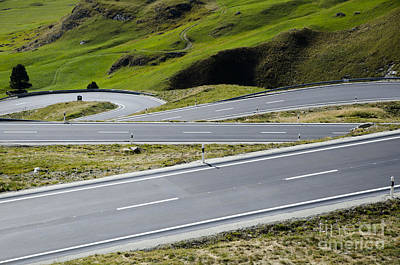 Road With Curves Print by Mats Silvan