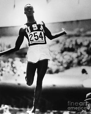 Olympian Photograph - Robert Beamon (1946- ) by Granger