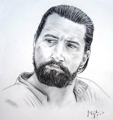 Portrait Drawing - Robert De Niro In The Mission by Jim Fitzpatrick