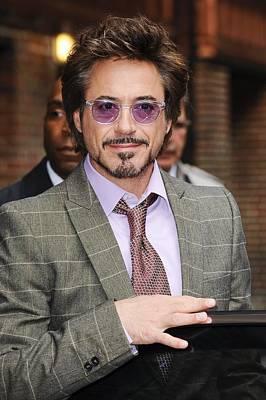 Robert Downey Jr., Visits Late Show Print by Everett
