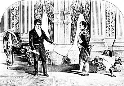Robert Fulton And Napoleon I, 1804 Print by Photo Researchers