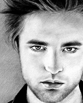 New Moon Drawing - Robert by Lena Day