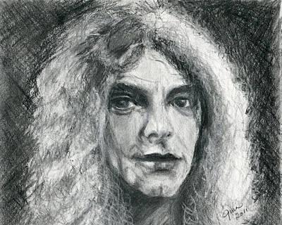 Robert Plant Drawing - Robert Plant by Gina Cordova