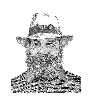 Ranching Drawing - Roberto Villa Real by Jack Pumphrey