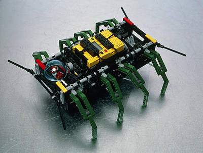 Robot Spider Constructed From Lego Print by Volker Steger
