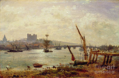 Rochester Cathedral And Castle Print by Frederick Nash