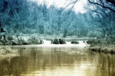Rock Photograph - Rock Creek Falls Near Gettysburg by Bill Cannon