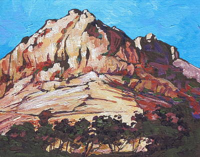 Rock Face 2 Print by Sandy Tracey