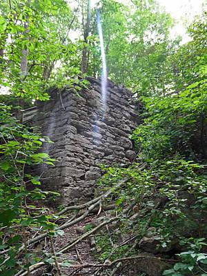 Abstract Digital Light Trails Photograph - Rock Glen Falls 3 by Cyryn Fyrcyd