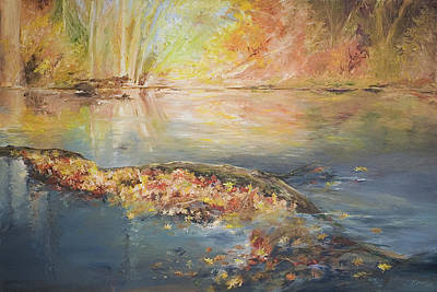Painting - Rockaway River In Fall by John and Lisa Strazza