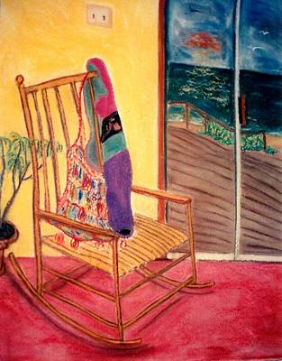 Rocking Chair Print by Eliezer Sobel