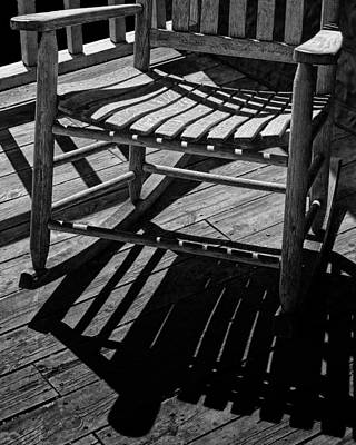 Rocking Chairs Photograph - Rocking Chair Lit By The Afternoon Sun by Randall Nyhof