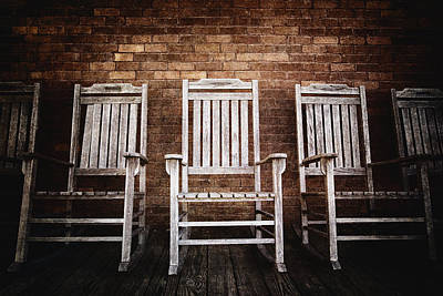 Rocking Chairs Photograph - Rocking Chairs by Skip Nall