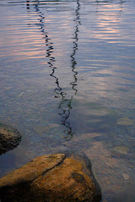Rocks And Reflection Print by Steven Ainsworth