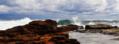 Rocks And Surf Print by Phill Petrovic