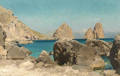Deep Blue Painting - Rocks Of The Sirens by Frederic Leighton