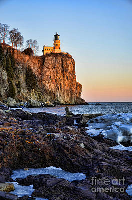 Lake Superior Art Gallery Photograph - Rocky Light by Whispering Feather Gallery