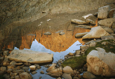 Rocky Mountain Peaks Are Reflected Print by Gordon Wiltsie