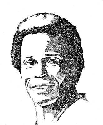 Rod Carew Sports Portrait Original by Marty Rice