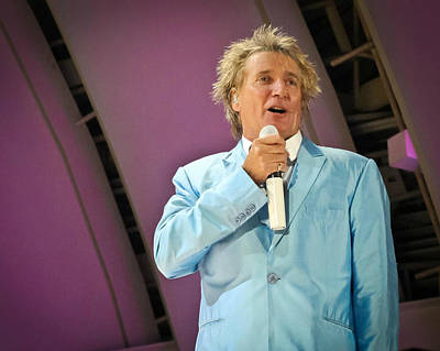 Hollywood Bowl Photograph - Rod Stewart by April Reppucci