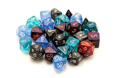 Role-playing Dices Print by Fabrizio Troiani