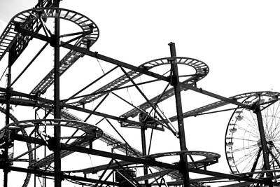 Roller Coaster Photograph - Roller Coaster Ride by Kenneth Mucke