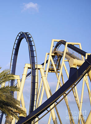 Roller Coaster Photograph - Roller Coaster Track by Skip Nall