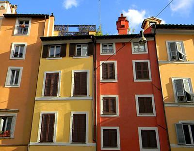 Roman Homes Print by Stellina Giannitsi