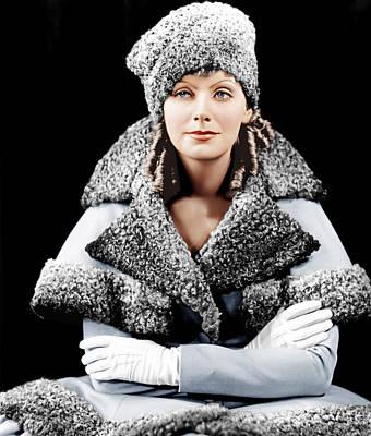 Hurrell Photograph - Romance, Greta Garbo, Portrait by Everett
