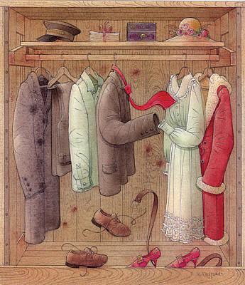 Romance In The Cupboard Print by Kestutis Kasparavicius
