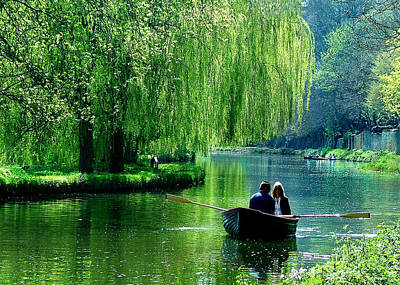 Floating Girl Photograph - Romance On The Canal by Daniela White