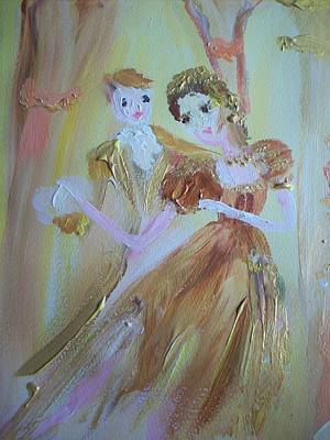 Romantic Encounter Print by Judith Desrosiers