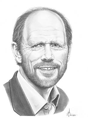 Famous People Drawing - Ron Howard by Murphy Elliott