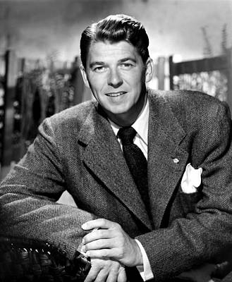 Ronald Reagan, From Shes Working Her Print by Everett