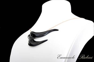 Ciondolo Jewelry - Rondine Nera  by Emanuele Rubini